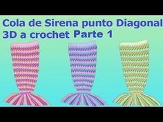 Manta de COLA DE SIRENA a Crochet - tutorial paso a paso (ENGLISH SUBS!) - YouTube