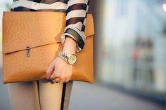 Tuxedo Stripes :: Silk blouse & Cutout pumps : Wendy's Lookbook