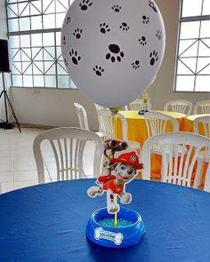 Decorar tus Fiestas: 60 ideas de decoración para fiesta de PAW Patrol o Patrulla canina Paw Patrol Party Decorations, Balloon Decorations, Birthday Decorations, Paw Patrol Centerpieces, Bolo Do Paw Patrol, Paw Patrol Cake, 2 Birthday, 4th Birthday Parties, Paw Patrol Birthday Theme