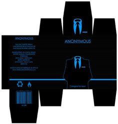 ANONYMOUS package design by REDvo.deviantart.com on @deviantART