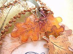 Shrink Plastic leaves  - i like the translucent effect  ************************************************   TheCraftingOwl - #shrink #plastic #crafts - tå√