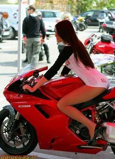 Pretty Girl On Racing Motorcycle Ducati 1299 Panigale Wallpaper. Source: https://www.flickr.com - Pesquisa Google