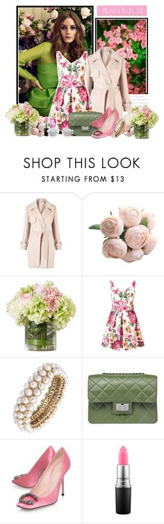 """""""I Wear Pink"""" by iheartkittys ❤ liked on Polyvore featuring Miss Selfridge, Anne Klein, Design Inverso, Gucci, MAC Cosmetics and Spektre"""