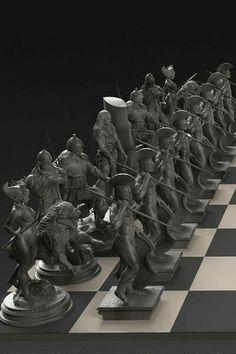 Frazetta chess set