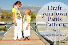 Draft your own Drawstring Pants Tutorial.