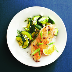Ready in 15 minutes. Serve with Mediterranean zucchini and a fruity white wine.