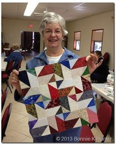Star Struck in Cottonwood! A very scrappy version.  Pattern available at Quiltville.blogspot.com
