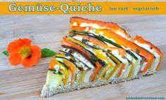 Gemüse-Quiche low carb, vegetarisch, glutenfrei | schlank mit verstand