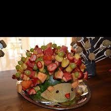 Image result for fruit skewer display