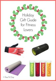 The ultimate holiday gift guide for fitness lovers. Find gifts at all price ranges for the runner, gym-goer, yogi, or healthy cook in your life. #sweatpink #fitfluential #giftguide