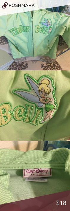 Tinker bell track jacket Walt Disney princess jacket, excellent condition! walt disney princess  Jackets & Coats