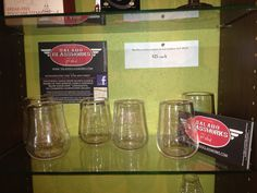 Hand-blown stemless wine glasses made by Salado Glassworks.  Very nice!