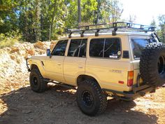 fj60 roof rack and lights - Google Search