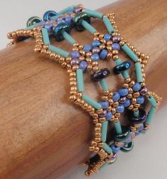 Instructions for Abacus Bracelet Beading Tutorial por njdesigns1