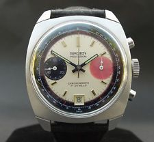 ALL ORIG! 60s Vintage GRUEN CHRONOGRAPH DATE Valjoux 7734 DATE LARGE SWISS MEN
