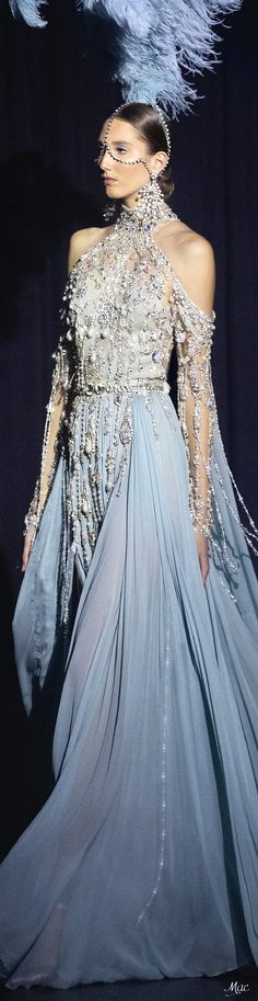 Spring 2021 Haute Couture Elie Saab Haute Couture Paris, Elie Saab Couture, Couture Fashion, Runway Fashion, Ellie Saab, Gowns Of Elegance, Couture Collection, Couture Dresses, Evening Gowns