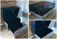 super ideas for shoe box storage ideas display Kids Storage Furniture, Bedroom Furniture, Diy Storage, Storage Boxes, Storage Chest, Storage Ideas, Jordan Shoe Box Storage, Shoe Box Organizer, Giant Shoe Box