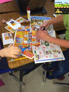 Awesome ideas for using grocery flyers to practice math skills!