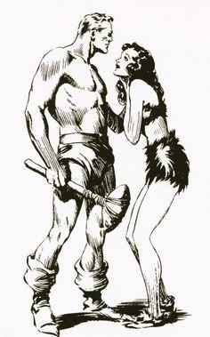 Flash Gordon and Dale Arden - Alex Raymond (via reginaldjuice) Comic Book Artists, Comic Artist, Comic Books Art, Flash Gordon Comic, Black And White Comics, Bd Comics, Wow Art, Classic Comics, Ink Illustrations