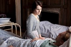 2/10/2014 11:25am   ''Downton Abbey   ''Lady Mary  Crawley aides in Matthew Crawley's care and recovery after WWI Battle