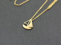Sailing ship necklace,Sailing vessel necklace, sailboat necklace, sailing boat necklace,boat necklace,marine necklace,ocean necklace,sea by MYLB on Etsy