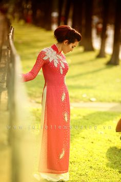 A very simple lace #aodai from quynhanh.