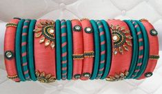 Here are some exclusive designer bangles Book your bangles nowLike share TagInvite your friends to this page *********For immediate response and price plesae inbox in our page ******** The Bangles, Silk Bangles, Bridal Bangles, Indian Bangles, Silk Thread Bangles Design, Silk Thread Necklace, Bracelets Design, Cuff Bracelets, Fancy Jewellery