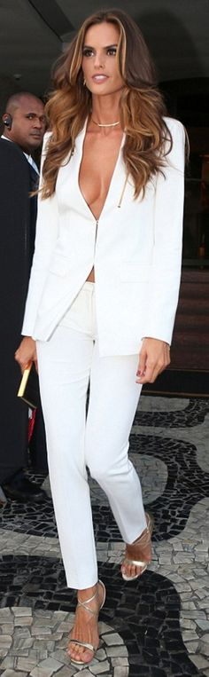 Izabel Goulart wearing Gianni Versace