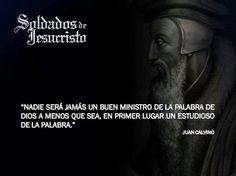Juan Calvino Christianity, Bible, Reformed Theology, Christ, Powerful Quotes, Hipster Stuff, Jesus Loves You, John Calvin, Big Men