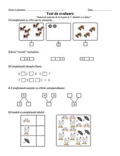 fise matematica dificultate ridicata 5-7 ani   Cu Alex la gradinita Autism Activities, Paper Trail, Preschool Math, Math For Kids, Math Lessons, Kids Education, Projects For Kids, Worksheets, Homeschool