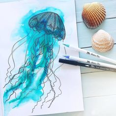 Dreamy watercolor sketch by @beckystarsmore . Here's to a relaxing weekend #happyfriyay . MozArt Brush Pens are available on Amazon -… Brush Pen Art, Watercolor Sketch, Dream Catcher, Pens, Artwork, Amazon, Instagram, Life, Dreamcatchers