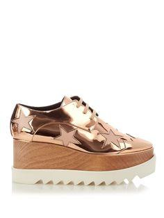 Elyse lace-up platform shoes by Stella McCartney | Shop now at #MATCHESFASHION.COM