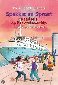 Vivian den Hollander - Raadsels op het cruise-schip || Spekkie en Sproet gaan naar het bruiloftsfeest van Spekkies nicht. Het wordt gevierd aan boord van een enorm cruiseschip. Tijdens het feest verdwijnt de kostbare tiara van de bruid. || Op tiplijst kinderjury 2013 || www.bol.com/nl/p/raadsels-op-het-cruise-schip/9200000002308564/