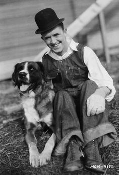 Stan Laurel and dog