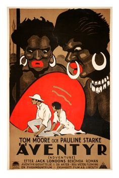 Adventure (1925) Tom Moore, Pauline Starke - Swedish silent movie poster