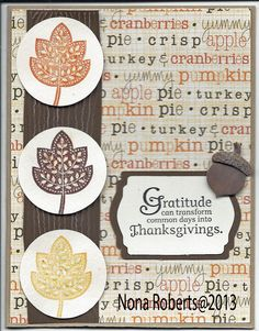 www.quwikcards.blogspot.com Stampin up stamp set  Called Day of Gratitude and cricut cartridges Lacey Labels and Accent Essentials