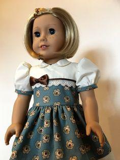 School dress fits American girl dolls by Bekysdollclothes on Etsy