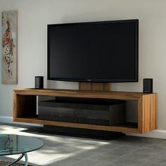"JSP T-41-C Tiffany 76"" Modern TV Credenza in Natural Walnut"