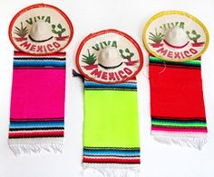 "3"" Mexico Sombrero with Serape - Decorations - Amols' Fiesta Party Supplies"