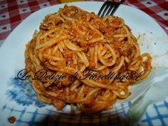 Le Delizie di Fiorellina84: Spaghetti con il mio ragù d'arrosto avanzato ^_*
