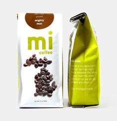 Paramount MI Coffee packaging design