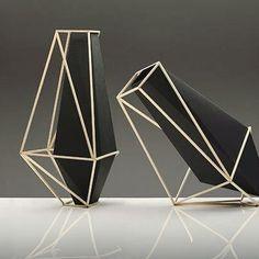 Martin Azua's beautifully geometric Union Suiza vases #Inspiration