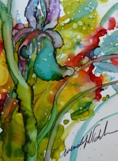 Painting with Alcohol Inks on Yupo Paper, with Wendy Videlock. Alcohol Ink Crafts, Alcohol Ink Painting, Alcohol Ink Art, Art Aquarelle, Watercolor Images, Watercolor And Ink, Pintura Graffiti, Art Du Monde, Silk Painting