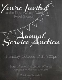 Relief Society Service Auction