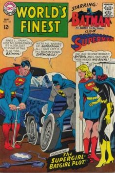 The exciting issue where Superman and Batman changed a flat tire. | 23 Absurdly Lame Things That Happened To Superman, Batman, And Robin