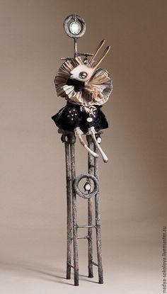 Купить ... временно ... - темно-серый, кролик, стул, часы, premier, папье-маше