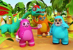 Cute 3D characters by Teodoru Badiu