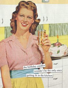 Birthday Memes For Her, Birthday Wishes For Women, Happy Birthday Woman, Happy Birthday Vintage, Funny Happy Birthday Wishes, Retro Birthday, Birthday Quotes For Him, Happy Birthday Greeting Card, Funny Birthday Cards