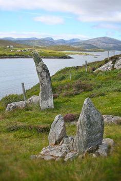Barraglom Narrows standing stones ,Isle of Lewis, Scotland  © Laurel Kallenbach