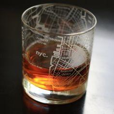 New York City Rocks Glass Set